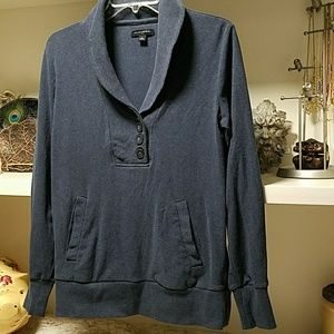 Banana Republic shawl collar sweatshirt- Jean Blue